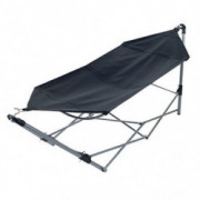 Pure Garden Portable Hammock with Stand-Folds and Fits into Included Carry Bag for Easy Travel-Perfect for Backyard, Pool, Be
