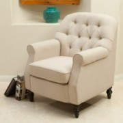 Denise Austin Home Avalon Beige Club Chair