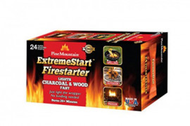 Pine Mountain ExtremeStart Wrapped Fire Starters, 24 Starts Firestarter Wood Fire Log for Campfire, Fireplace, Wood Stove, Fi