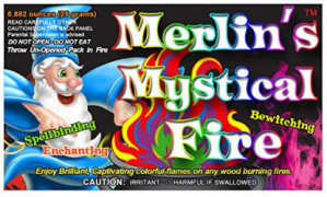 Mystical Fire Merlin's Fire Flame Colorant Vibrant Long-Lasting Pulsating Flame Color Changer for Indoor or Outdoor Use 0.882