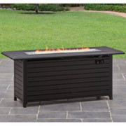 "Better Homes and Gardens Carter Hills, Durable and Rust-Resistant Design 57"" Rectangular Gas Fire Pit, with Stainless Steel B"
