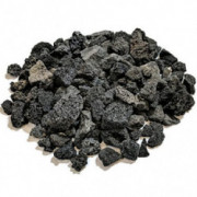 "Midwest Hearth Lava Rock for Fire Pits and Gas Log Sets, Black 5/8"" to 1-1/2""  10-lb Bag"