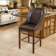 Marcus Brown Leather Single Counter Stool