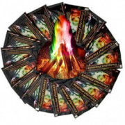Corgy Multicolor Flame Powder Flame Dyeing Outdoor Bonfire Party Suppl Magic Kits & Accessories