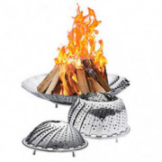RedK Fire Pits Outdoor -Space Saving Foldable Stainless Steel Firepit,Outdoor Fire Pit Accessories Wild Travel Wood Burning a