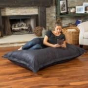Daniel Black Faux Suede 5' Lounge Pillow