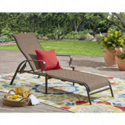 Mainstay Wesley Creek Sling Chaise Lounge  Brown