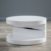 Emerson Small Circular Mod Swivel Coffee Table