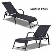 Giantex Outdoor Patio Chaise Lounge Chair, Adjustable Lounge Chairs Patio Seating Furniture, 5 Adjustable Positions, Backyard