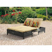 Double Chaise Lounger - This red stripe outdoor chaise lounge is comfortable sun patio furniture Guaranteed which can also be