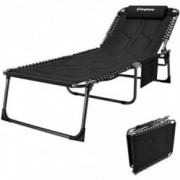 KingCamp 4-Fold Oversize Folding Chaise Lounge Chair for Outdoor, Indoor, Beach, Patio, Lawn, Heavy-Duty Adjustable Camping R