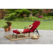 Mainstays Belden Park Cushion Chaise Lounge  Red
