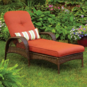 Better Homes and Gardens.. Durable Steel Frame Chaise Lounge  Orange