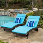 Christopher Knight Home Salem Chaise Lounge Cushion, 2-Pcs Set