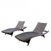 Christopher Knight Home Salem Outdoor Wicker Lounges, 2-Pcs Set, Multibrown