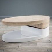 Emerson Large Oval Mod Swivel Coffee Table