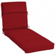 allen + roth 1 Piece Cherry Red Patio Chaise Lounge Chair Cushion, Set of 2