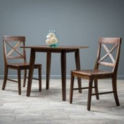 Potter 3pc Mahogany Stained Wood Dining Set