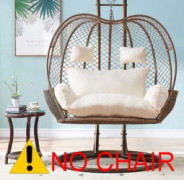 Thick Balcony Egg Nest Chair Pad,Oversized 2 Persons Seater Hanging Hammock Chair Cushion,Basket Swing Seat Mat for Indoor Ou