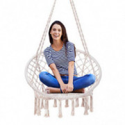 VIVOHOME Hanging Hammock Chair, 265 lbs Capacity, Perfect for Indoor Outdoor, Patio, Deck, Yard, Garden, L31.5 x W23.6 x H53.