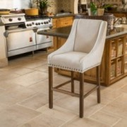 Marcus Natural Fabric Single Counter Stool