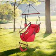 ONCLOUD Upgraded Unique Hammock Hanging Sky Chair, Air Deluxe Swing Seat with Rope Through The Bars Safer Relax with Fuller P