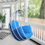 ART TO REAL Hanging Egg Chair, Hammock Swing Chair with Hanging Kit, Egg-Shaped Hammock Swing Chair Single Seat for Indoor, O