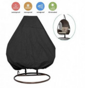 skyfiree Patio Hanging Chair Cover 91X80 inches Large Double Wicker Egg Chair Cover Waterproof Garden Outdoor Swing Chair Pod