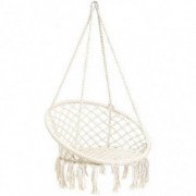 CCTRO Hammock Chair Macrame Swing,Boho Style Rattan Chair Hanging Macrame Hammock Swing Chairs for Indoor/Outdoor Home Patio