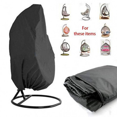 NA HermWerder Patio Hanging Chair Cover Oxford Fabric Waterproof Veranda Patio Cocoon Egg Chair Garden Furniture Protective C