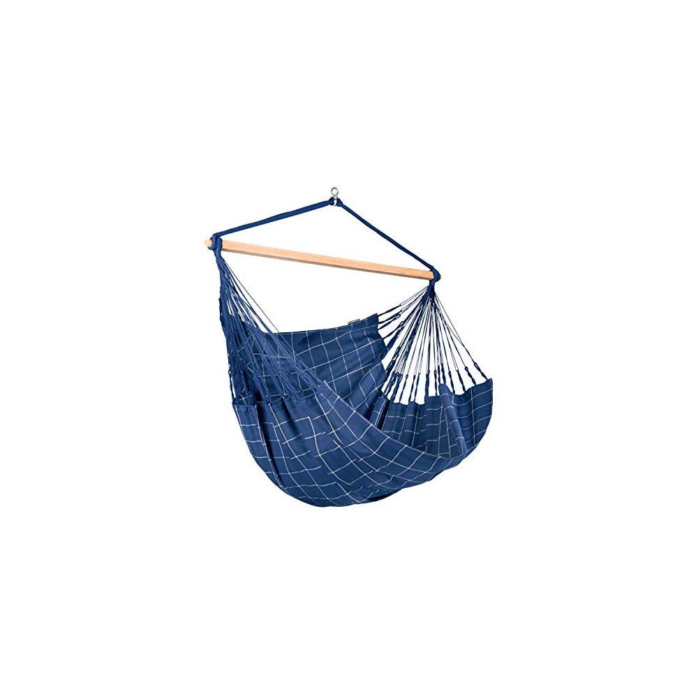 LA SIESTA Domingo Marine - Weather-Resistant Outdoor Kingsize Hanging Chair