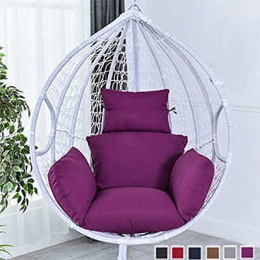 Hanging Basket Chair Cushions Egg Hammock Chair Cushions Thick Nest Back Pillow for Indoor Outdoor Patio Yard Garden Beach Of