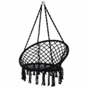Auwish Hammock Swing Chair for Bedroom Indoor Outdoor Hanging Rope Macrame Swing Chair Patio, Porch, Garden Lounge Chair Swin