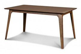 New Classic Furniture Mid-Century Modern Oscar Dining Table, 60-Inch, Walnut