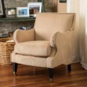Dante Fawn Fabric Club Chair