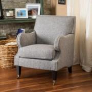 Dante Mixed Grey Fabric Club Chair