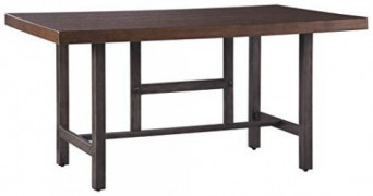 Signature Design by Ashley Kavara Dining Room Table, Medium Brown
