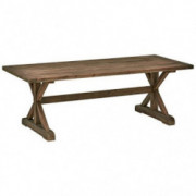 "Amazon Brand – Stone & Beam Bradhurst Rustic Wood Dining Table, 86.6""L, Brown"