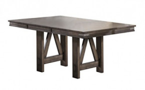 "Kings Brand Furniture Lynn Table, 42"" W x 60""/78"" D x 30"" H, Brown"