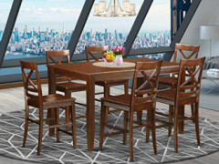 7 Pc Dining counter height set - high top Table and 6 Kitchen bar stool.