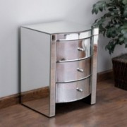 Jacinda Mirrored Accent 3-Drawer Nightstand