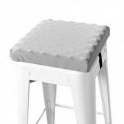baibu Non Slip Stool Cushion Square, Soft Bar Stool Cushion with Ties Memory Foam Square Seat Cushion for Stackable Kitchen S