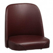 Replacement Bar Stool, Bucket Seat, Brown Vinyl