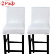 LJNGG 2 Pack Chair Cover Slipcover Counter Stool Covers Dining Room Kitchen Bar Stool Cafe Furniture Chair Seat Cover Stretch