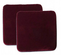 "Sigmat Plush Square Seat Cushion for Bar Stool or Chair Pad with Buckle Burgundy 12"" Pack of 2"