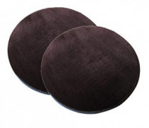 "Sigmat Plush Round Bar Stool Pad Soft Chair Cushion with Buckle Coffee 14"" Pack of 2"
