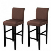 VoiceFly 2 Pack Stretch Chair Cover Slipcovers Counter Height Bar Stool Covers Cafe Furniture High Seat Dining Room Kitchen B