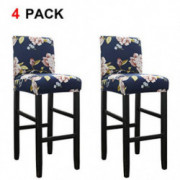 WOMACO Bar Stool Covers Stretch Counter Height Side Chair Slipcover Protector for Dining Room Kitchen Cafe Furniture Chair  P