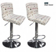 Deisy Dee Dining Room Chair Covers,Bar Stool Covers,Barstool Chair Slipcovers Pack of 2 C176  S