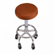 Deisy Dee Soft Stretchable Round Bar Stool Chair Covers Protectors Pack of 2 C097  coffee